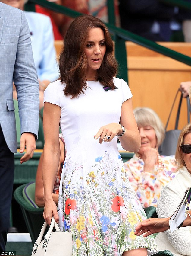 The Duchess wore a bespoke Catherine Walker dress to the Wimbledon final, estimated at £1,000