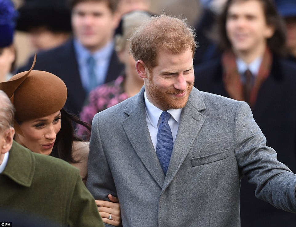 The couple waved to crowds who had lined the streets of Sandringham from early this morning in a bid to catch a glimpse of the RThe couple waved to crowds who had lined the streets of Sandringham from early this morning in a bid to catch a glimpse of the Royal Familyoyal Family