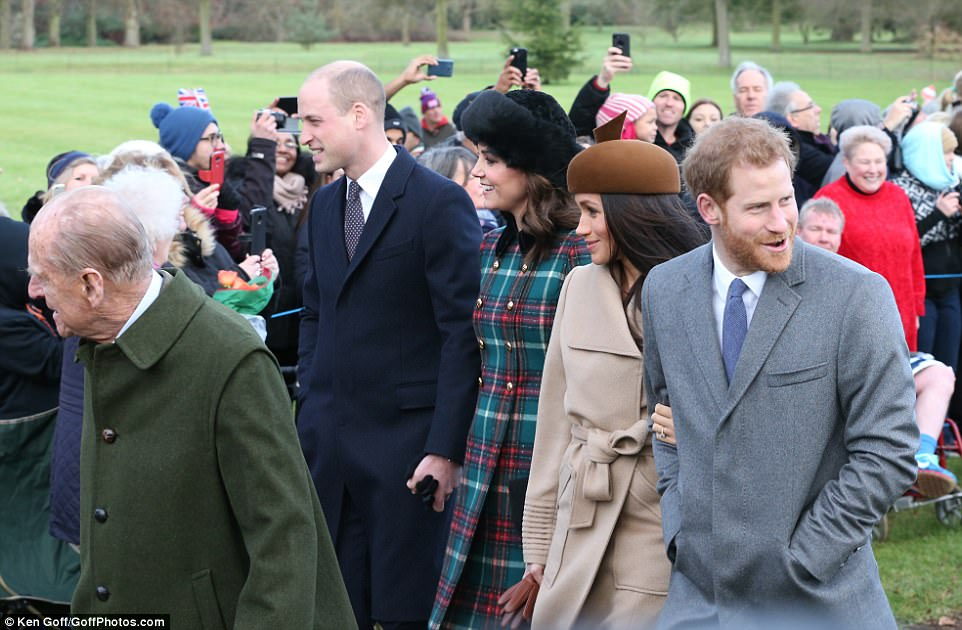 Royal watchers looked delighted to catch a glimpse of Meghan, who will join the Royal Family when she marries Prince Harry in May next year