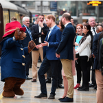 and he went from babies to bears  getting to meet a larger than life paddington bear at londons paddington station in october
