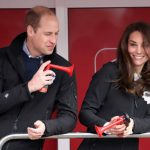 but life goes on  and william and kate were soon enjoying themselves again with bull horns at the london marathron in late april