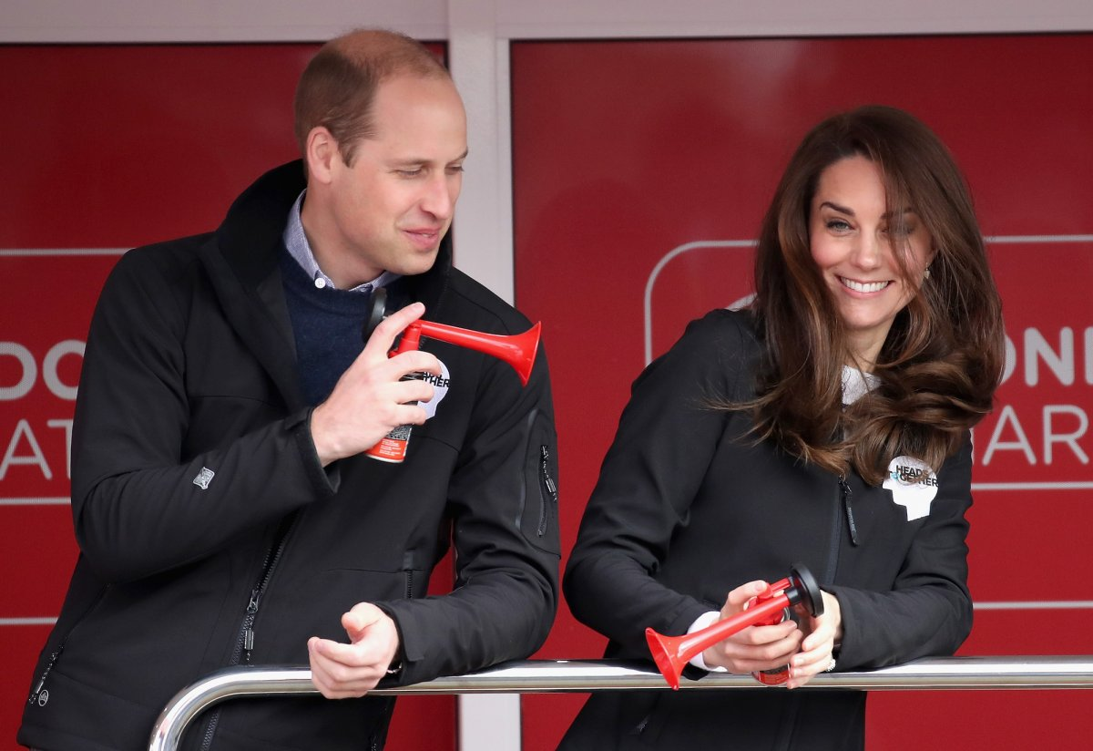 But life goes on — and William and Kate were soon enjoying themselves again with bull horns at the London Marathron in late April.