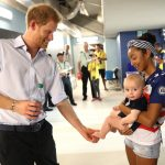 later he took time to hang out with this little guy behind the scenes of one invictus event