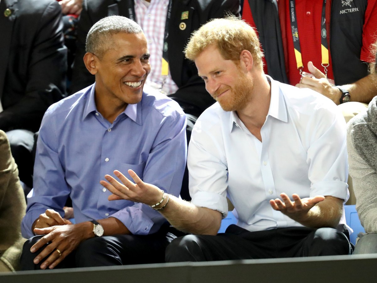 Meanwhile Prince Harry made a trip to Toronto to see the Invictus Games for injured servicemen and women, where he met Barack Obama.