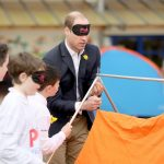 prince william had more fun and games trying to put up a tent blindfolded in abergevenny wales while launching a childrens award scheme