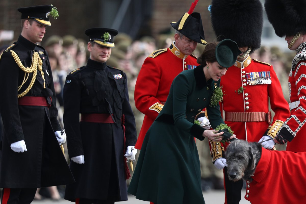 The Duchess of Cambridge gets to meet some major dignitaries — including this St Patrick