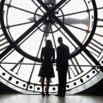 the next day she and william were in paris and enjoyed a quiet moment looking out over paris from behind the clock face of the citys musee dorsay