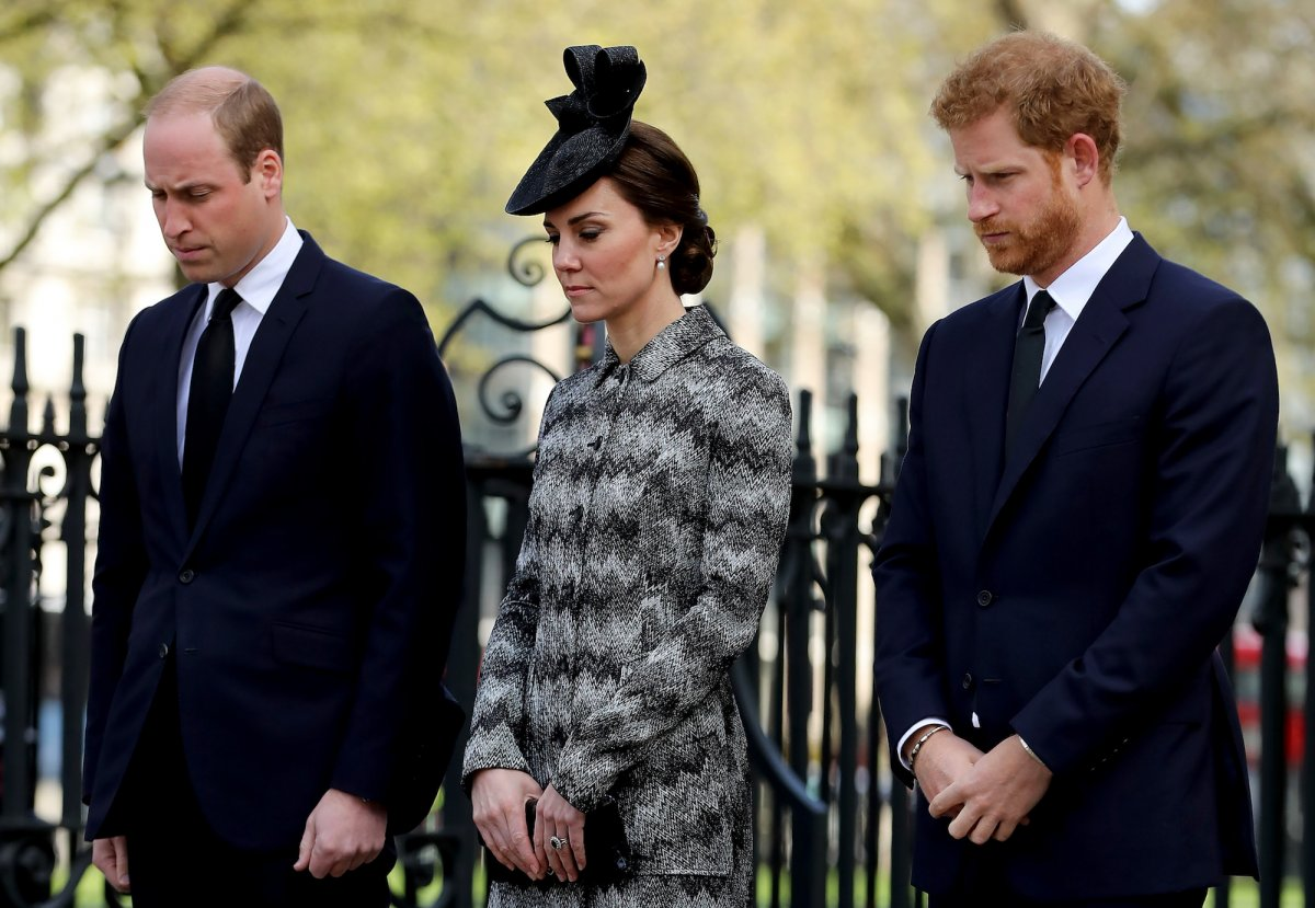 There were sad times too. Here the Royal trio bow their heads outside a remembrance service held a few days after the terror attack on Westminster Bridge at the end of March.