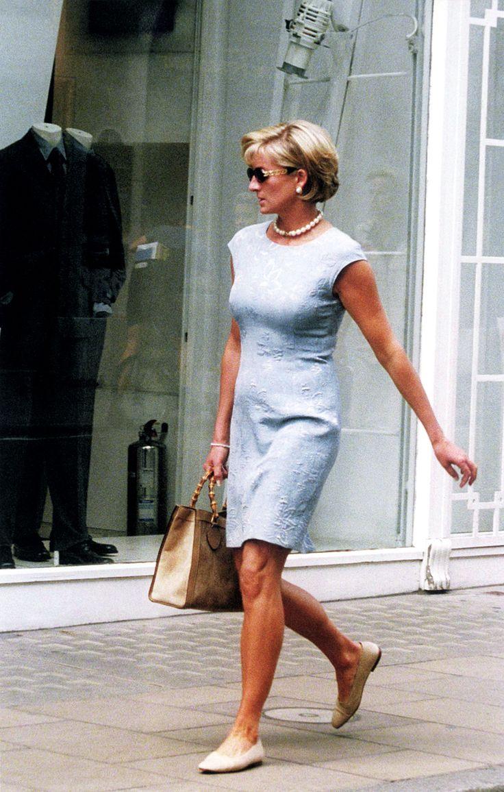 Princess Diana's Gucci Bamboo Tote Handbag.