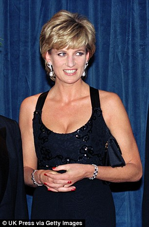 Princess Diana during the charity event.