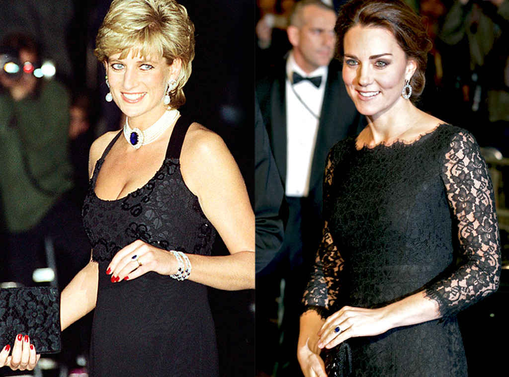 Princess Diana and Kate Middleton Photo (C) GETTY IMAGES