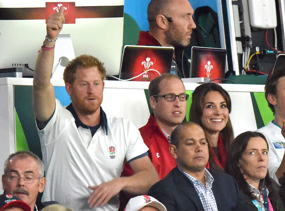 0 Prince William hugged his wife Kate Middleton after they watched a rugby match with Prince Harry on Saturday Sept. 26 Credit Karwai Tang WireImage
