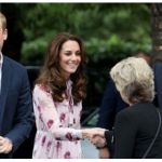 03 Kate Middleton Prince William and Prince Harry meet a young guest outside the London Eye.