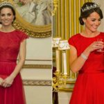 1 Kate Iconic Looks China State Visit Banquet Red Packham Lotus Flower Tiara October 20 2015 Photo C GETTY IMAGES