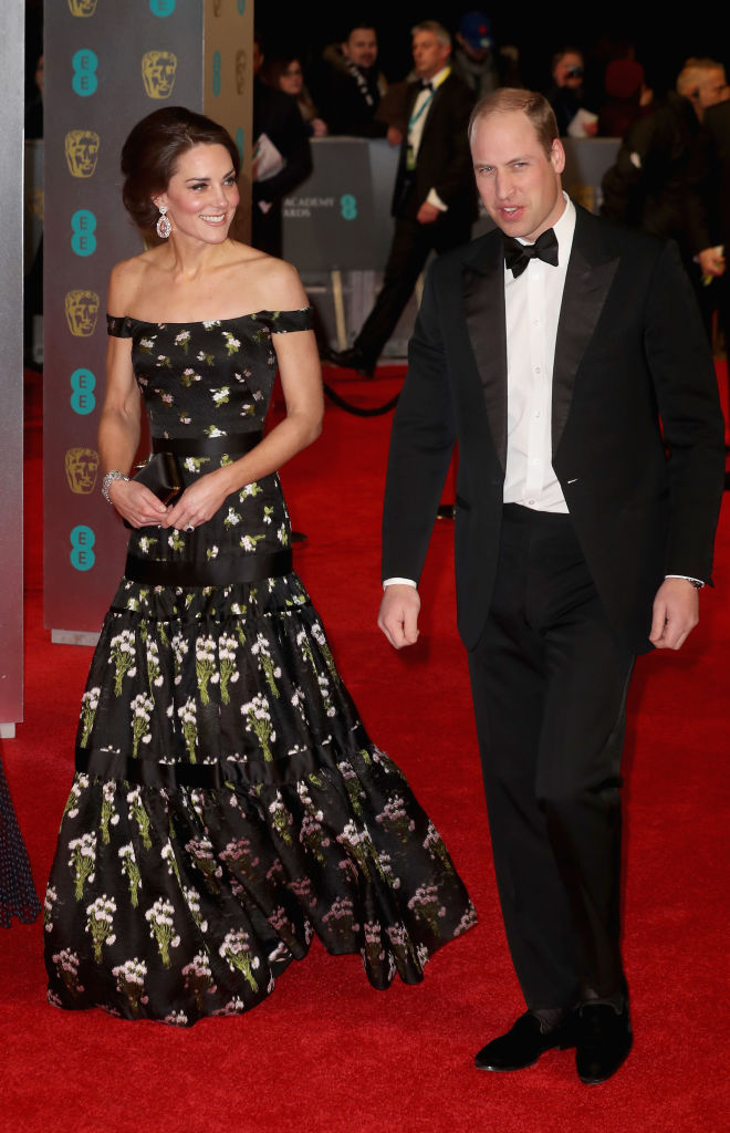 The BAFTAs is one of the biggest nights in cinema – and for some it was the perfect opportunity to enjoy a glamorous evening out with their significant other. Leading the way, of course, was Britain's very own Prince William and Kate Middleton, who stole the show as they arrived for the star-studded 2017 event. The Duchess looked breathtaking in a bespoke Alexander McQueen gown, featuring tiers and delicate floral detailing, as she was escorted inside the Royal Albert Hall by her husband, dapper in a black tuxedo. The couple, who were spending an evening away from children Prince George and Princess Charlotte, were guests of honour at the awards ceremony, and looked in high spirits as they walked the red carpet ahead of the main event. Click through to see the other celebrity couples attending BAFTA 2017... Photo: © Getty Images Photo: © Getty Images
