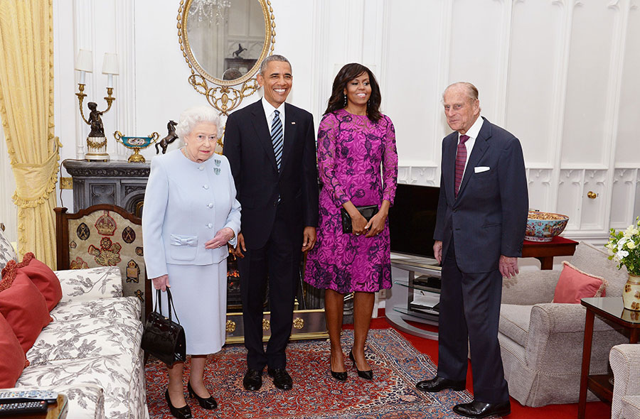 Barack and Michelle Obama will join Princes William and Harry and Kate at Kensington Palace for dinner Photo (C) PA
