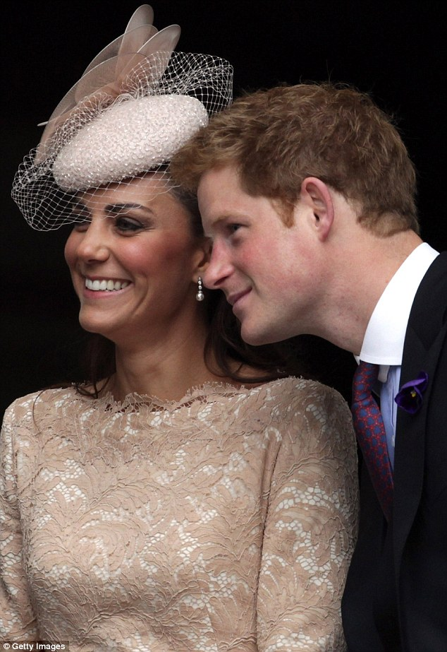 Good friends William and Kate spend lots of time socialising with Harry and the three are firm friends