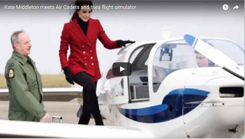 Catherine Duchess of Cambridge Flight Simulation