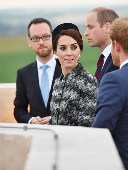 Catherine Duchess of Cambridge Prince William and Prince Harry Attend WWI Vigil in France Photo C STEPHEN LOCK I IMAGES POLARIS