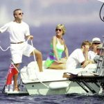 Diana and Prince William vacationed with Dodi Al Fayed not pictured in St. Tropez France days before Diana and Dodi died in a Paris car crash in August 1997 Photo C Getty images