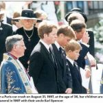 Diana died in a Paris car crash on August 31 1997 at the age of 36 her children are pictured here at her funeral in 1997 with their uncle Earl Spencer