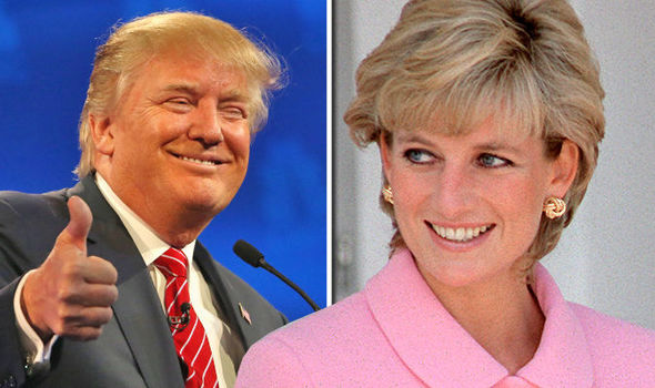 Donald Trump and Princess Diana Photo (C) GETTY