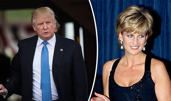 Donald Trump sent Princess Diana with flowers Photo (C) GETTY