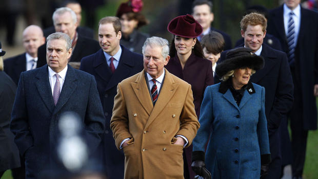 From left Britains Prince Andrew Prince William Prince Charles Kate Duchess of Cambridge Camilla Duchess of Cornwall and Prince Harry arrive to attend Photo C Getty images