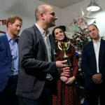 Harry Kate and William presented George Yeorghaki who has been volunteering with The Mix