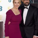 J.K. Rowling made a very rare appearance with her husband anaesthetist Neil Murray at the star studded BAFTAs Photo C GETTY