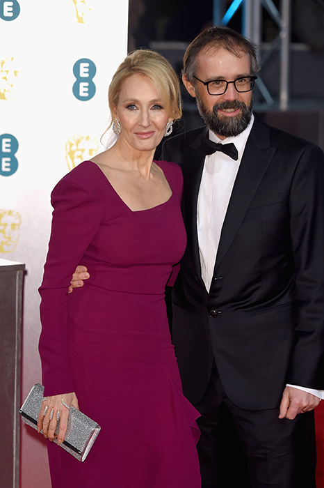 J.K. Rowling made a very rare appearance with her husband, anaesthetist Neil Murray, at the star-studded BAFTAs. The couple have been married since December 2001 and are parents to one son, David Gordon Rowling Murray, who was born in March 2003. The Harry Potter author looked gorgeous in a form-fitting gown as the pair posed for photographs together on the red carpet. Photo: © Getty Images Photo: © Getty Images
