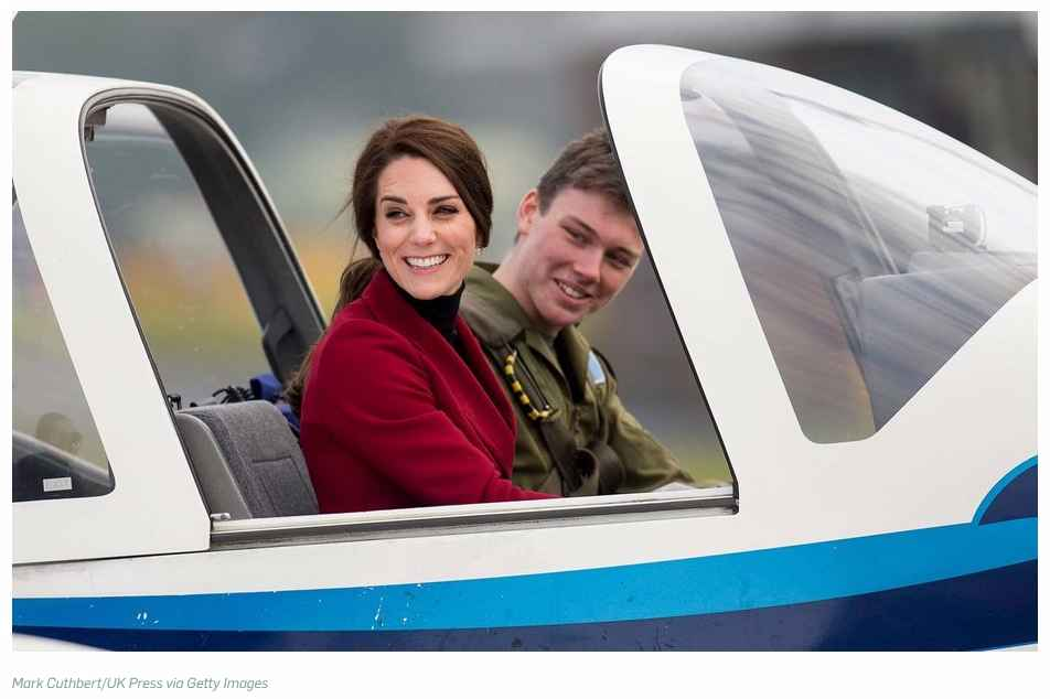 Kate Middleton Did William Proud This Valentines Day by Taking Flying Lessons