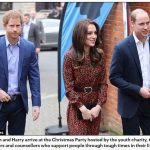 Kate William and Harry arrive at the Christmas Party hosted by the youth charity to celebrate the volunteers and counsellors who support people through tough times in their lives