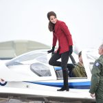 Kate hopped aboard the cockpit of a Tutor aircraft in Cambridgeshire. Photo C REX 1