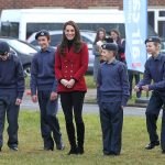 Kate met young air cadets from the Bedfordshire and Cambridgeshire Wing Air Training Corps. Photo C REX