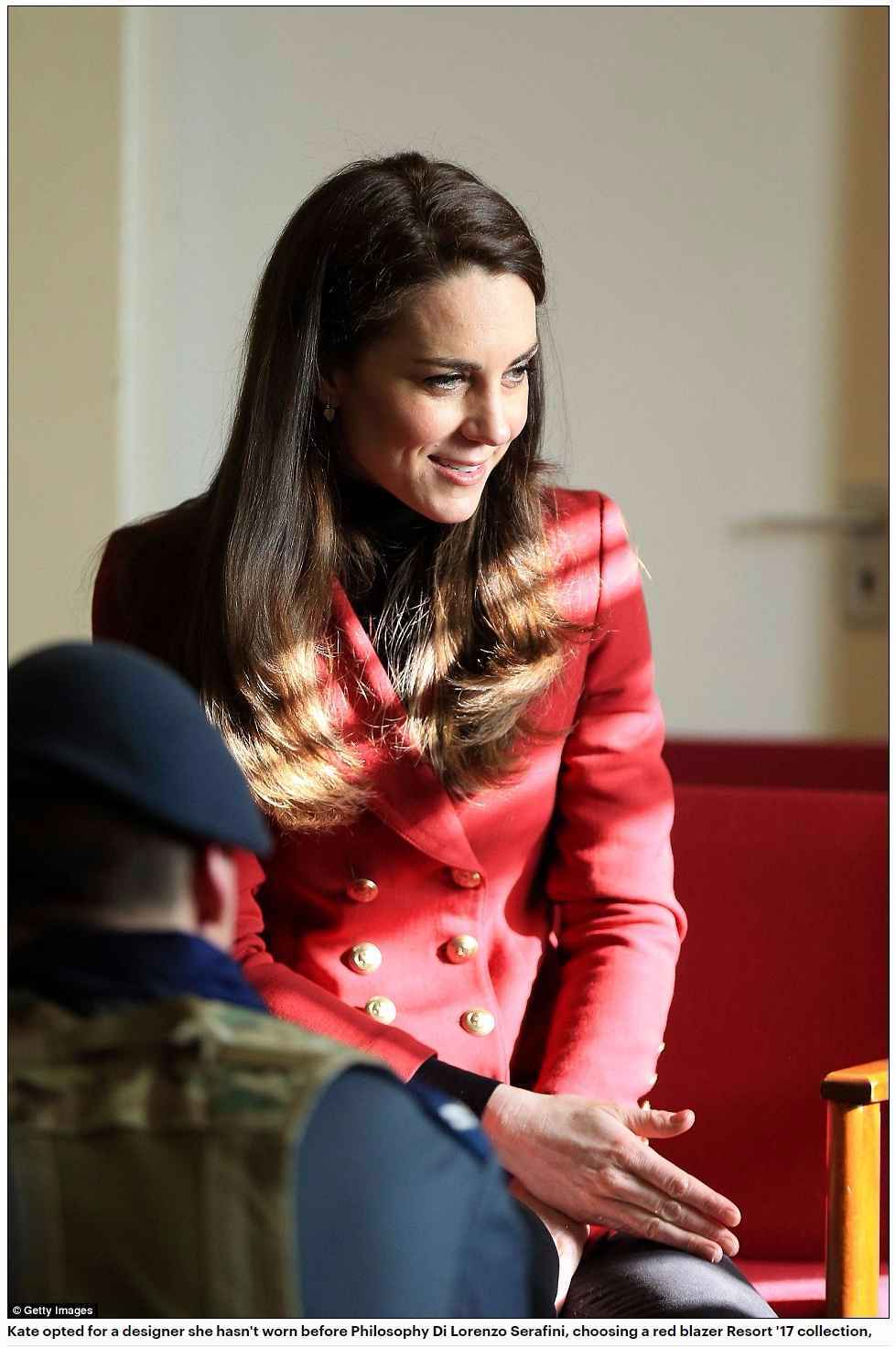 Kate opted for a designer she hasn't worn before Philosophy Di Lorenzo Serafini,