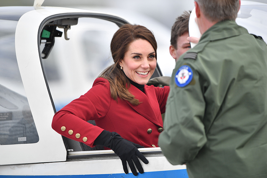Kate spends Valentine's Day with RAF cadets Photo (C) REX