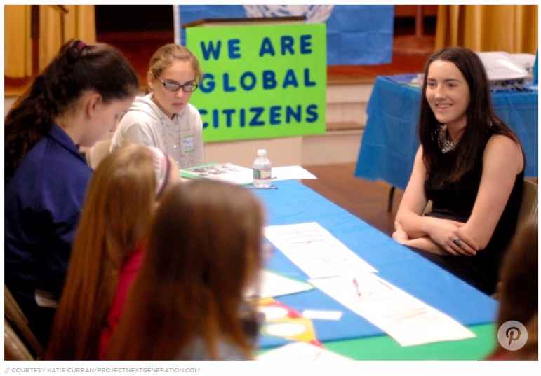 Middle school students, no matter where they're located, want to make a difference