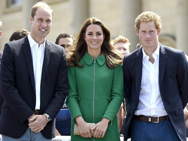 Prince William, Princess Kate and Prince Harry Photo (C) GETTY