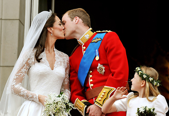 Prince William and Duchess Kate pictured on their wedding day in April 2011 Photo (C) GETTY