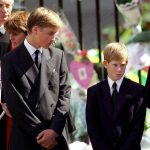 Prince William and Prince Harry during Dianas funeral Photo C GETTY