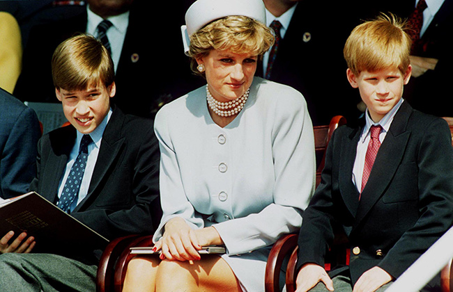 Princes William and Harry, like their uncle Earl Spencer, are now huge supporters of the Diana Award Photo (C) GETTY IMAGES