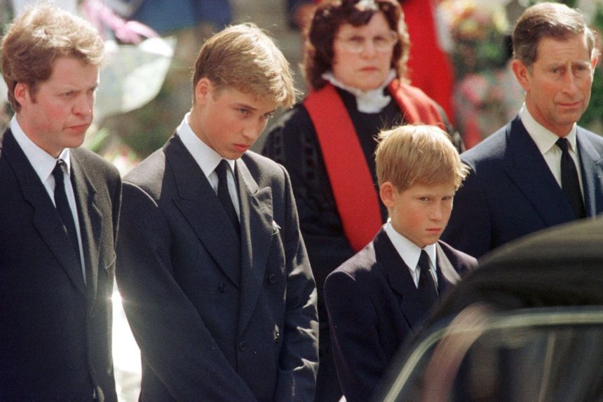 Princess Diana Funeral William And Harry Crying Photo (C) GETTY IMAGES