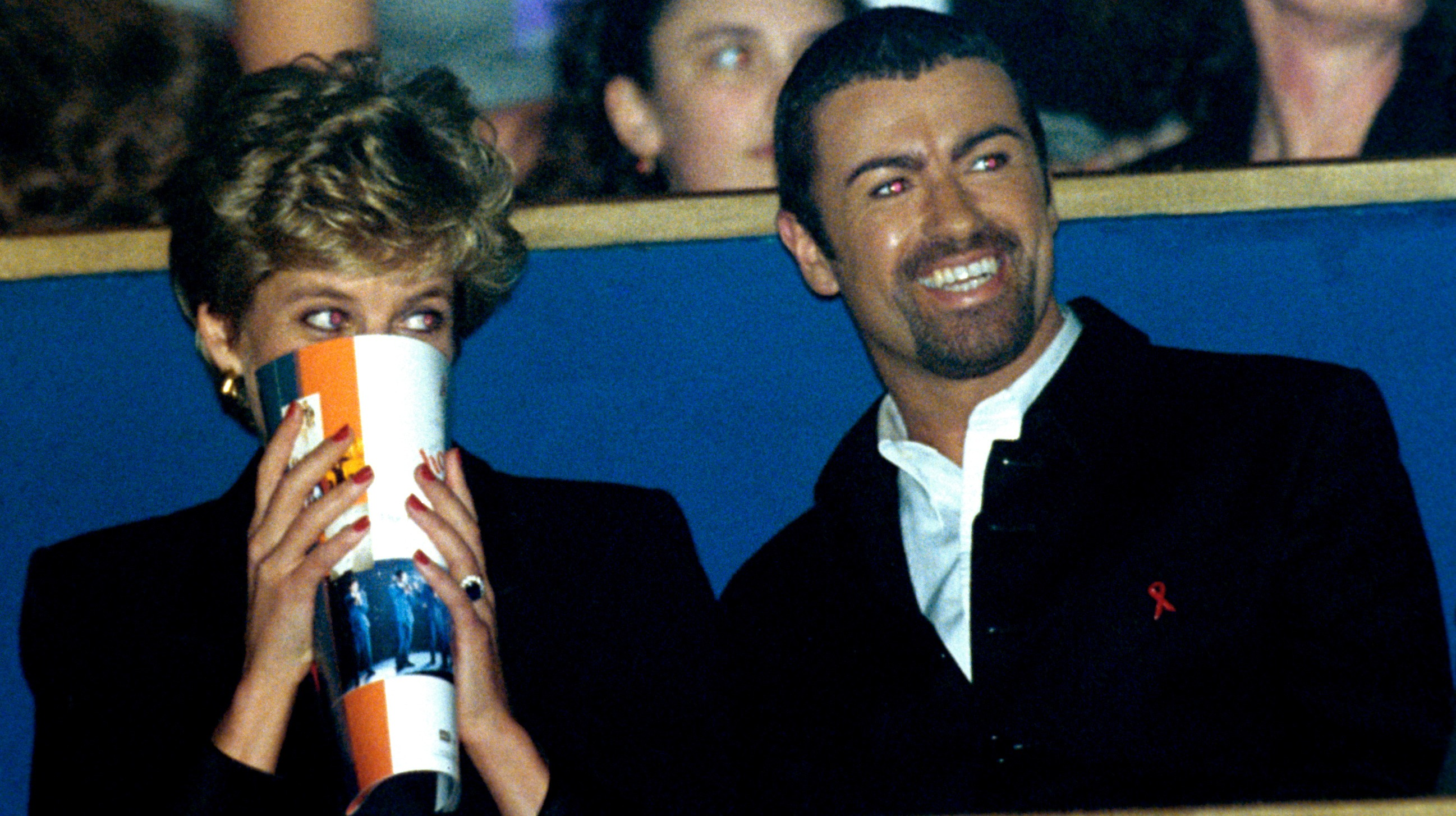 Princess Diana and George Micheal Photo (C) GETTY IMAGES