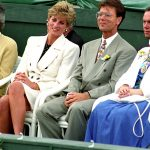Sir Cliff Richard and Princess Diana, pictured together at The Federation Cup, skied together in Austria Photo (C) GETTY