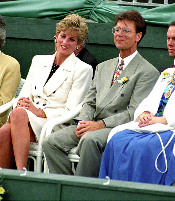 Sir Cliff Richard and Princess Diana pictured together at The Federation Cup skied together in Austria Photo C GETTY