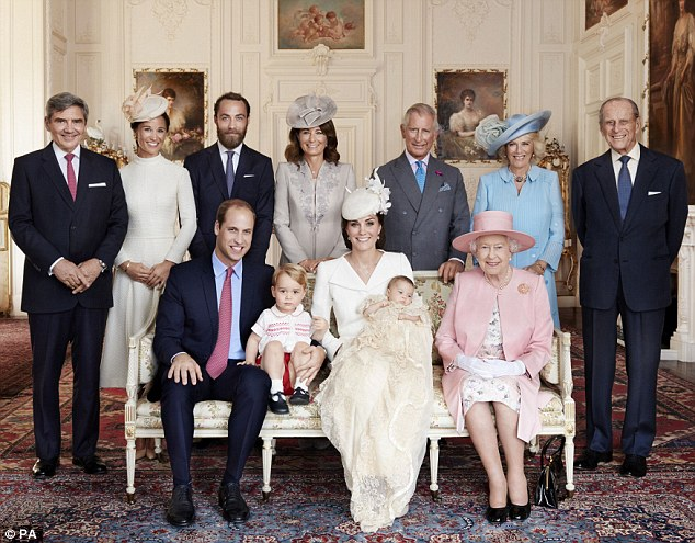 Special Occasion where both sets of families posed with the Duke Duchess their children and the Queen for a picture for Princess Charlottes christening