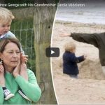 Sweet Moments Prince George with His Grandmother Carole Middleton