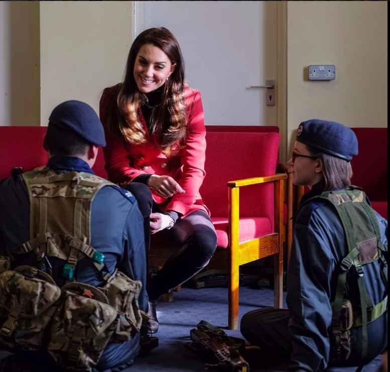4 Thank you @aircadets for the lovely welcome for The Duchess to your half term skills development camp