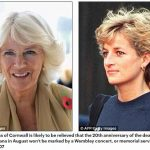 The Duchess of Cornwall is likely to be relieved that the 20th anniversary of the death of Princess Diana in August won't be marked by a Wembley concert